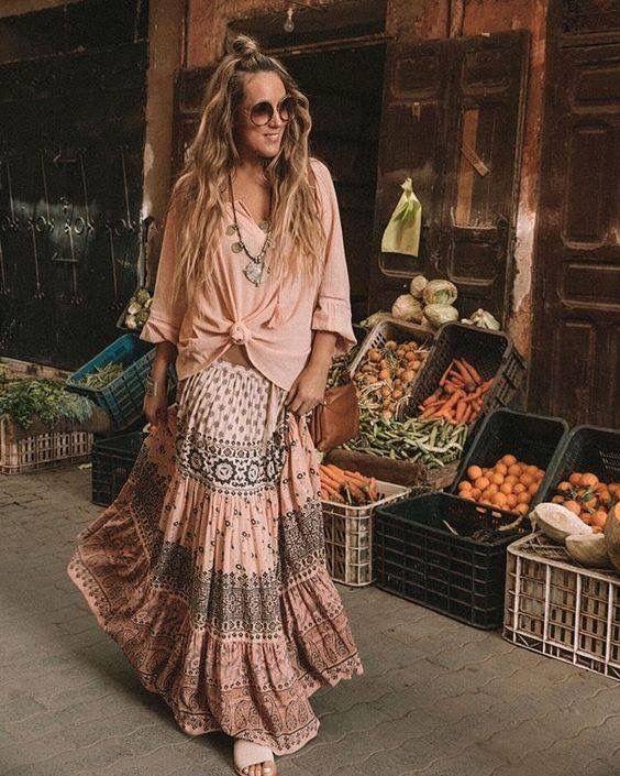BOHO FLORAL MAXI DRESS – BOHOASIS   Beautiful boho dresses, Boho .