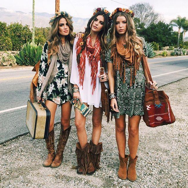 ╰☆╮Boho chic bohemian boho style hippy hippie chic bohème vibe .