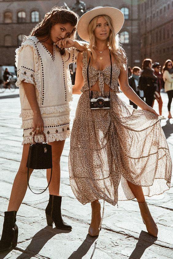 Boho fashion, bohemian style, spring boho outfit | Boho outfits .