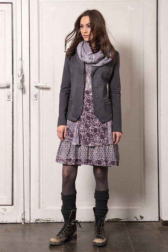 Boho dress and hippie jacket, boho fashion and bohemian style .