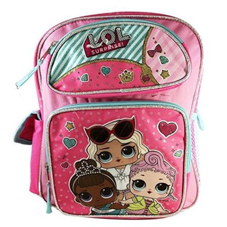 "Licensed - L.O.L Surprise! Large School Backpack 16"" Book Bag Pink ."