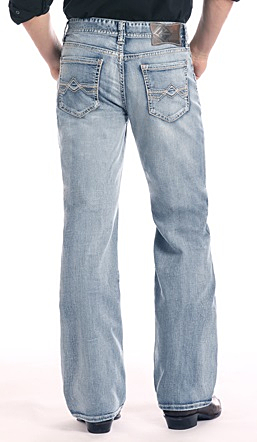 Cannon Loose Fit Bootcut Jeans in Light Wa