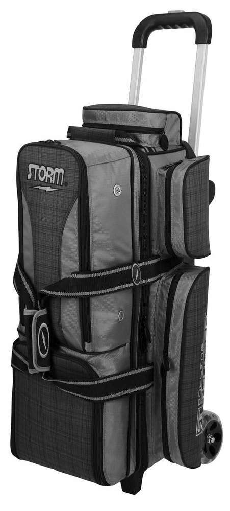 Storm Rolling Thunder 3 Ball Roller Bowling Bag Black Purple by .