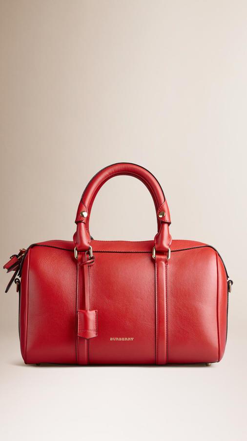 Burberry Medium Leather Bowling Bag, $1,695 | Burberry | Lookastic.c