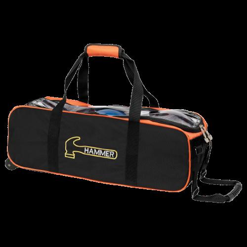 Hammer Triple Tote Bag Black/Orange | BowlerX.c