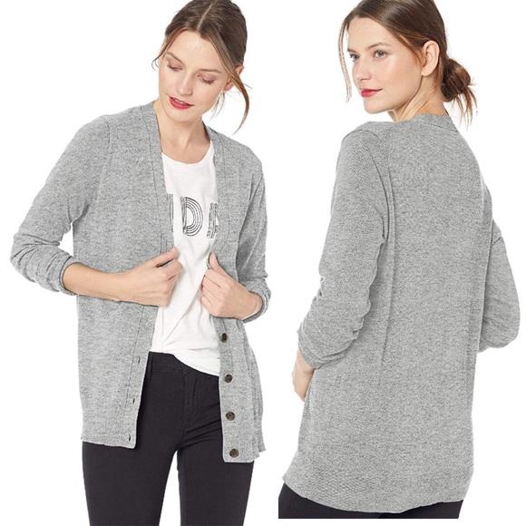 J. Crew Sweaters | Jcrew Vneck Boyfriend Cardigan Sweater Grey Xs .