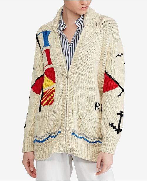 Polo Ralph Lauren Cotton Boyfriend Cardigan & Reviews - Sweaters .