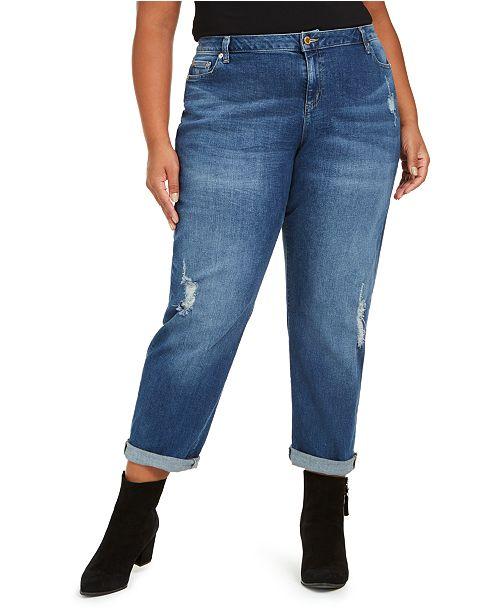 Michael Kors Plus Size Dillon Ripped Boyfriend Jeans & Reviews .