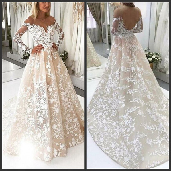 Discount Glamorous Lace Wedding Dresses Off Shoulder Illusion Long .