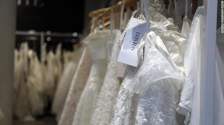 Bridal gowns will be in short supply for wedding season because of .