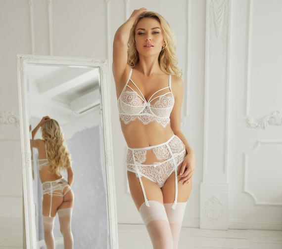Bridal lingerie set Wedding lingerie Lace lingerie set | Et