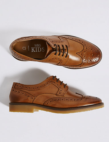 Kids' Leather Brogue Shoes (13 Small - 7 Large)   Boys' shoes .