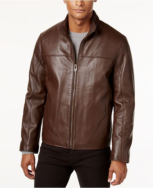 Cole Haan Men's Leather Jacket & Reviews - Coats & Jackets - Men .