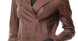 Peggy Biker Jacket Women | Brown Leather Jack