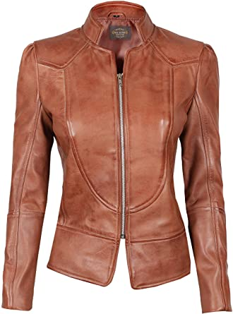 Women Leather Jacket - Real Lambskin Leather Jackets for Women at .