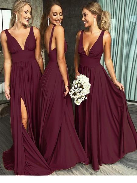 Sexy Burgundy Bridesmaid Dresses, Bridesmaid Dress BM0006 .