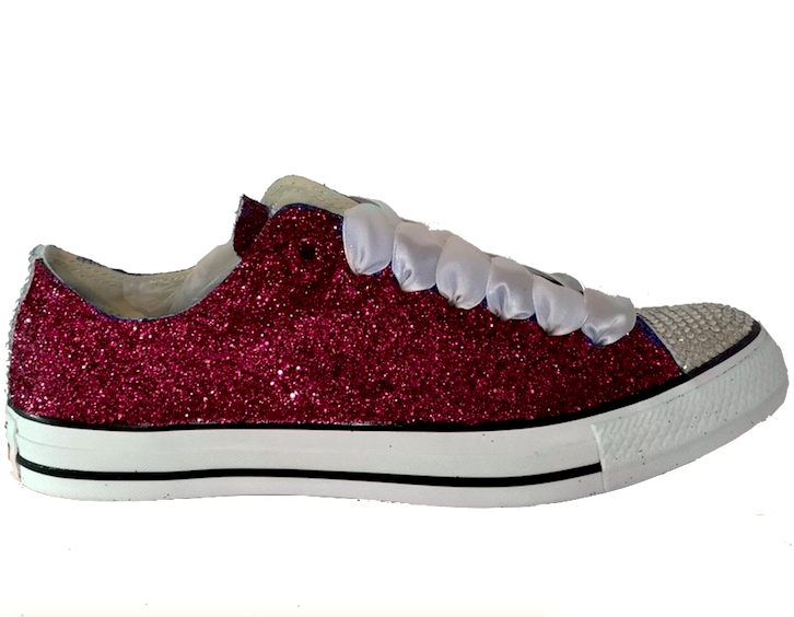 Sparkly Maroon Burgundy Glitter Converse All Star Shoes wedding .