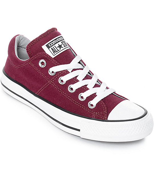Converse Chuck Taylor All Star Ox Madison Burgundy & White Shoes .