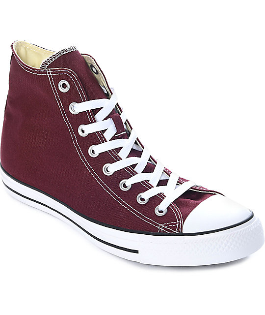 Converse Chuck Taylor All Star Burgundy Shoes | Zumi
