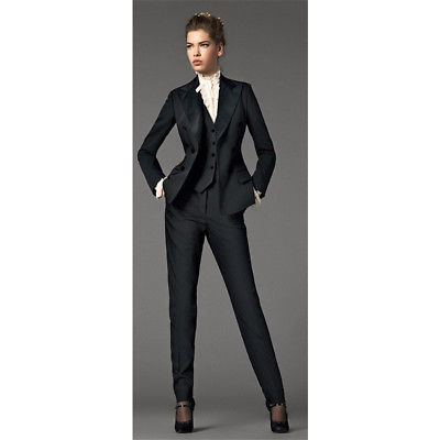 Black 3 Piece Suits Women Business Suit Formal Female Office .