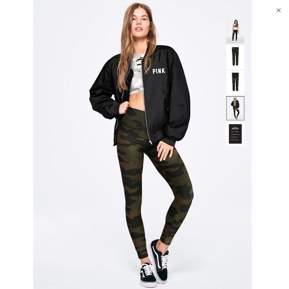PINK Victoria's Secret Pants | Ultimate High Waist Camo Leggings .