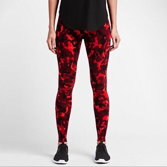 Nike Pants | Red Camo Leggings | Poshma