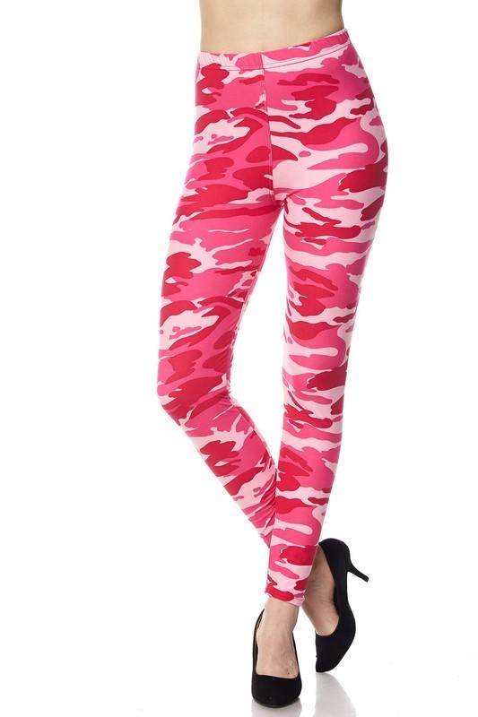 Pink Camo Leggings | WardrobeMag.c