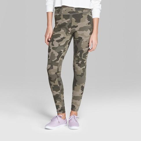 Women's Camo Print High-Rise Leggings - Wild Fable™ Green : Targ