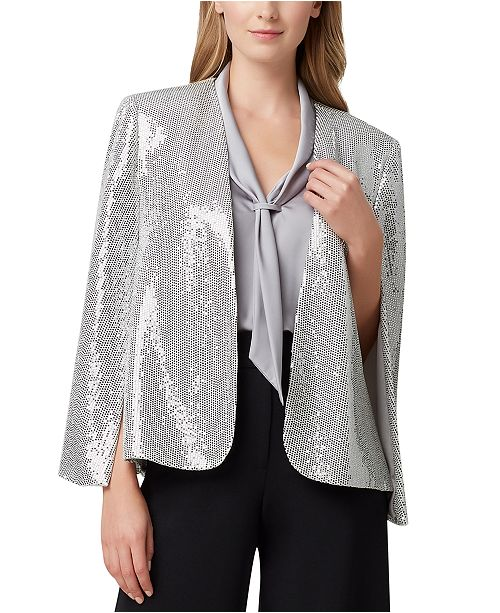 Tahari ASL Petite Shiny Cape Jacket & Reviews - Wear to Work .