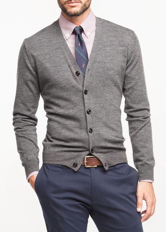28 Comfy Men Looks With Cardigans For Fall And Winter - Styleohol