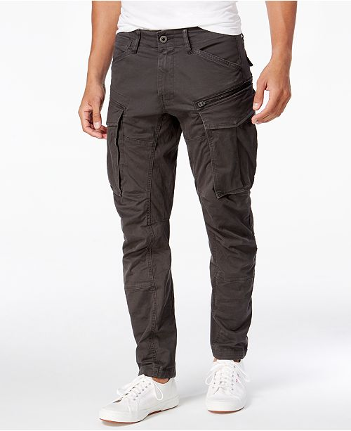 G-Star Raw Men's Rovic 3D Straight Tapered Fit Cargo Pants .