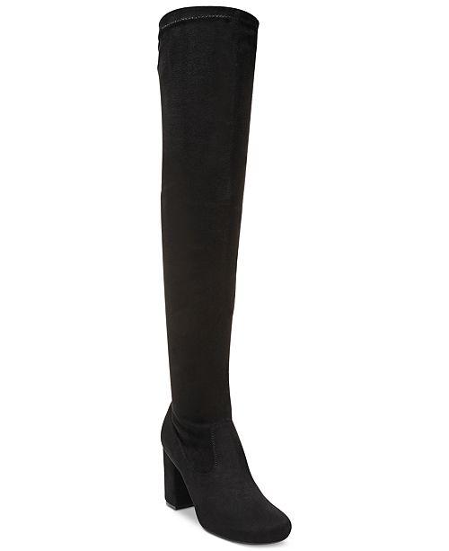 Carlos by Carlos Santana Rumor Over-The-Knee Block-Heel Boots .