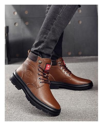 OSCO Genuine Leather Men Waterproof Boots Men Casual Shoes Fashion .