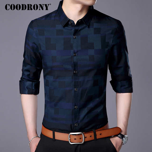 COODRONY Men Shirt Mens Business Casual Shirts 2019 New Arrival .