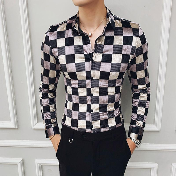 Fashion Street Wear Retro Mens Casual Shirts Cotton Business .