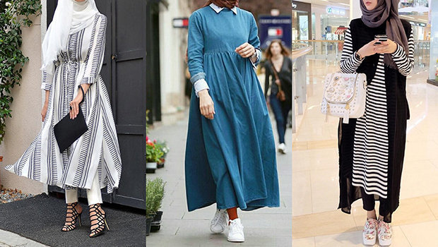 17 Casual Hijab Dresses for a Very Fashionable Spring Sty