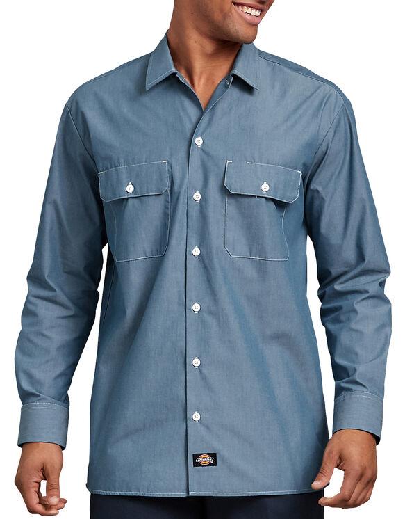 Relaxed Fit Long Sleeve Chambray Shirt | Mens Shirts | Dicki