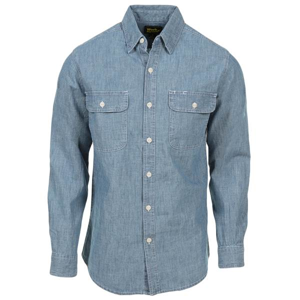 Work n' Sport Men's Long Sleeve Chambray Shirt - 15536-530WS-L .