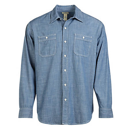 Blue Mountain Men's Long Sleeve Chambray Shirt at Tractor Supply C