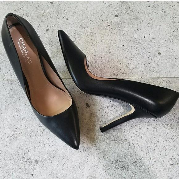 Charles David Shoes | Charles By Max Pointy Toe Black Pump | Poshma