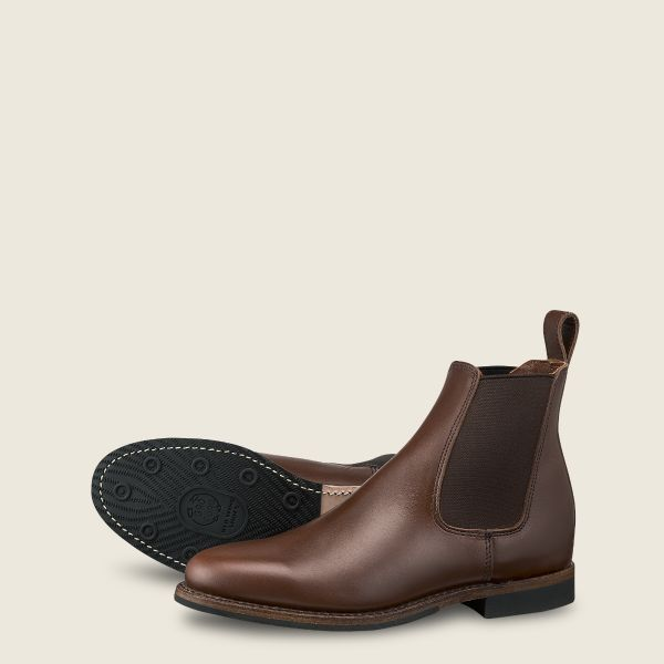 Men's Williston Chelsea in Brown Leather 9437 | Red Wi