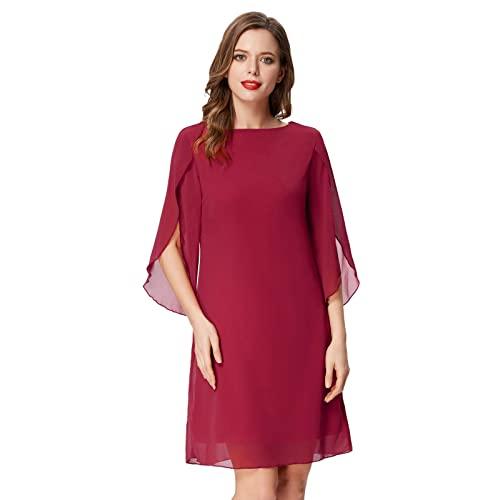 Chiffon Dresses with Sleeves: Amazon.c