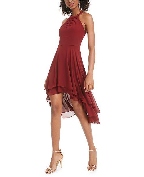 B Darlin Juniors' High-Low Chiffon Dress, Created for Macy's .