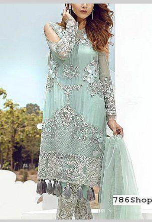 Light Turquoise Chiffon Suit | Buy Serene Pakistani Dresses and .