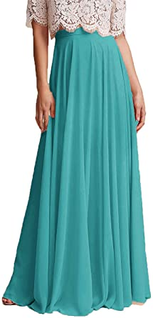 honey qiao Chiffon Maxi Skirt Bridesmaid Dresses Long High Waist .