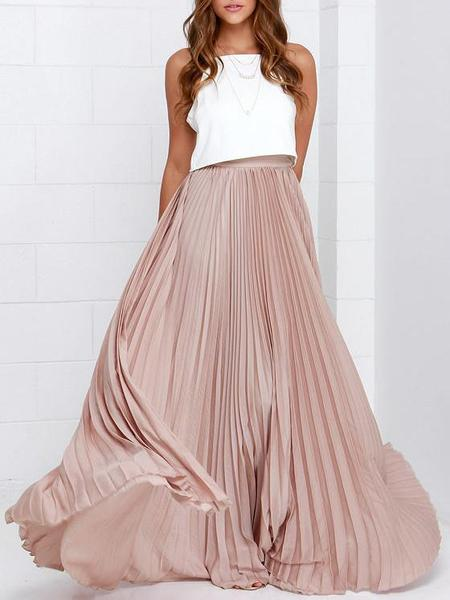 Pretty in Pink - Pleated Chiffon Skirt – Fr