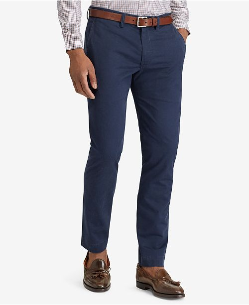 Polo Ralph Lauren Men's Straight-Fit Bedford Stretch Chino Pants .