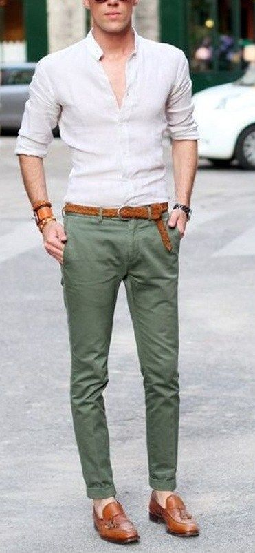 5 Must have Chino Colors for Men This Year | Mens fashion suits .