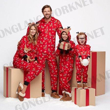 Family Matching Christmas Pajamas Set Women Baby Kids Sleepwear .
