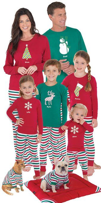 Unique Christmas Pajama Photo Ideas for the Whole Family .